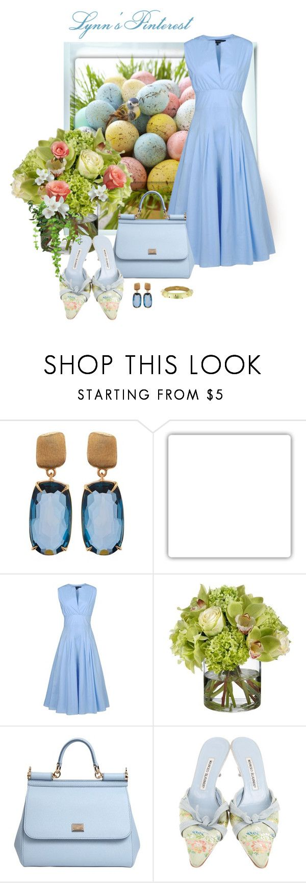 """Easter 2 -  #3666"" by lynnspinterest ❤ liked on Polyvore featuring Marco Bicego, Keen Footwear, Ter Et Bantine, Diane James, Dolce&Gabbana, Manolo Blahnik and 3666"