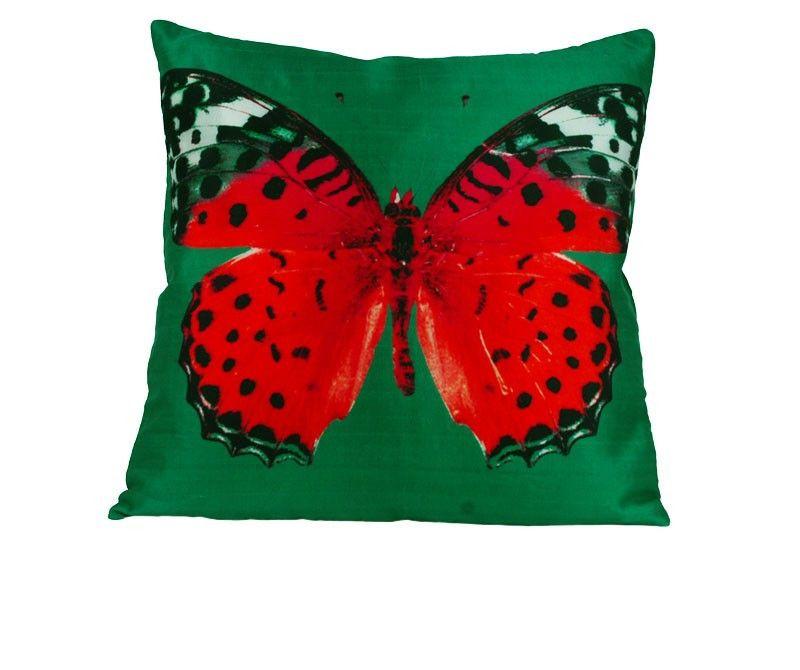 WOODVILLE sierkussen Colorfully Butterfly