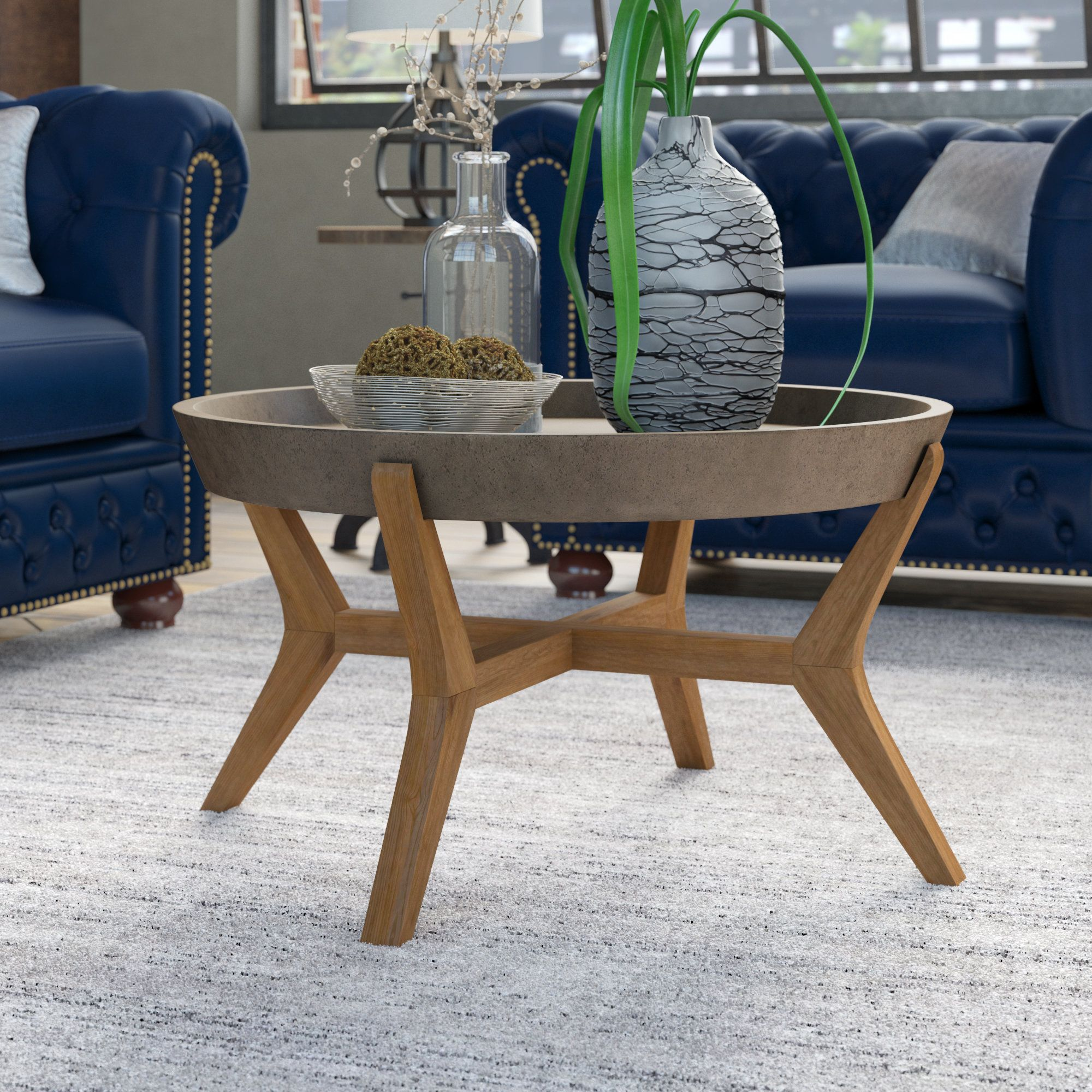 Dorotha Coffee Table Round Coffee Table Coffee Table Brown Coffee Table [ 2000 x 2000 Pixel ]