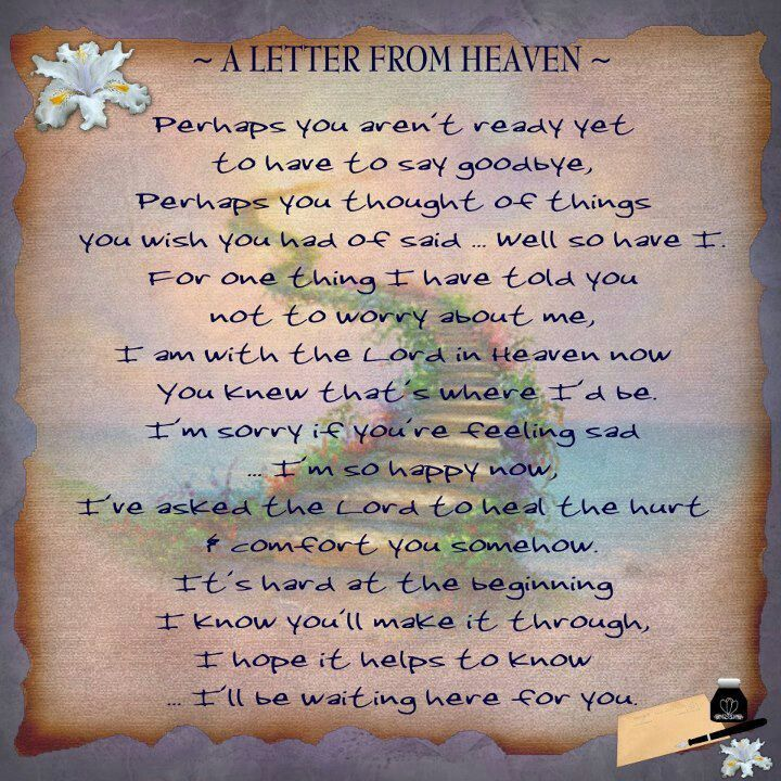 A Letter From Heaven **I So Miss My Dad**