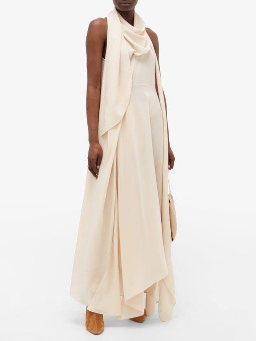 Aliya draped silk-crepe dress | Petar Petrov | MAT