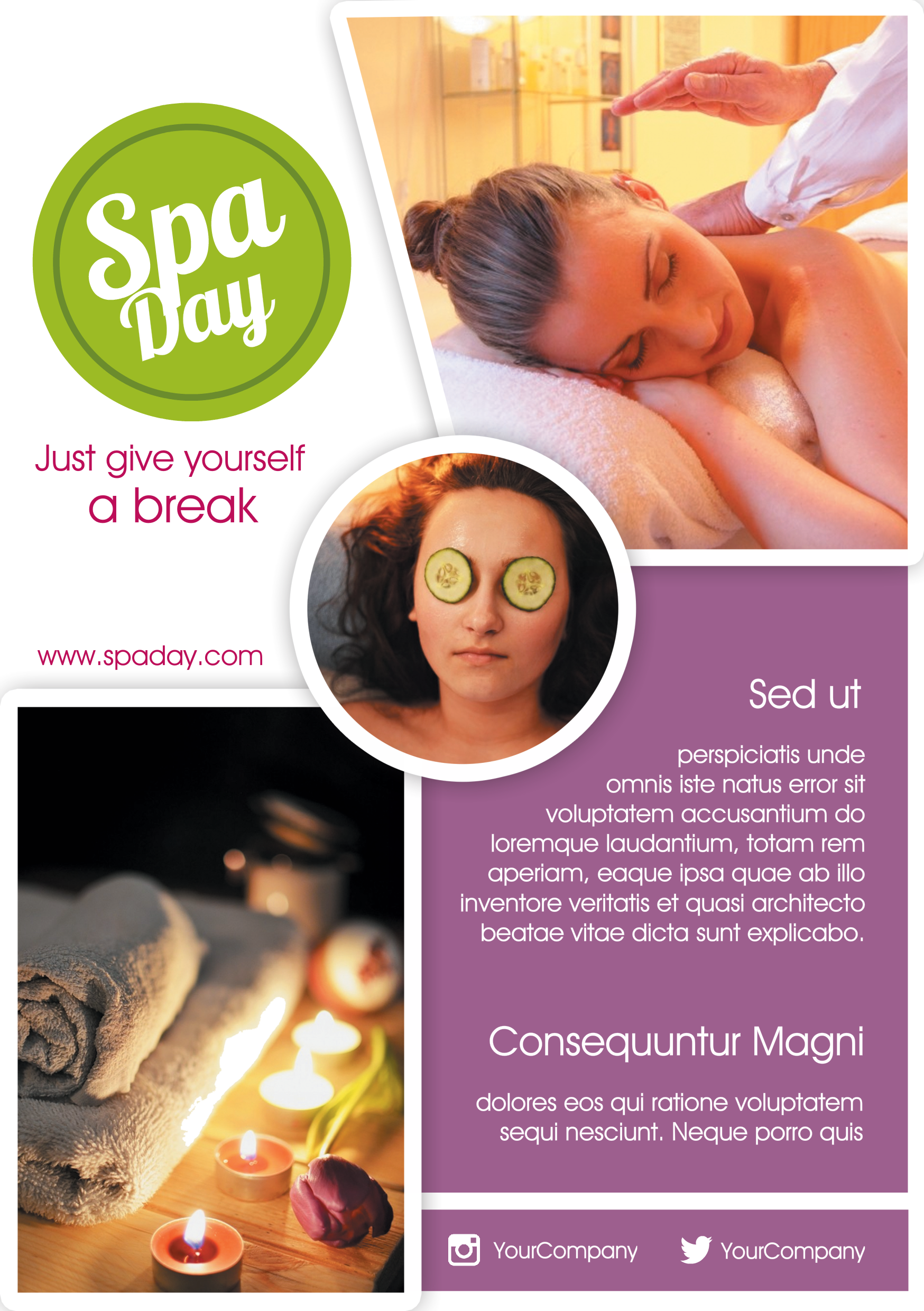 Flyer Template Created With Youzign  Spa Bundle Theme  Cool