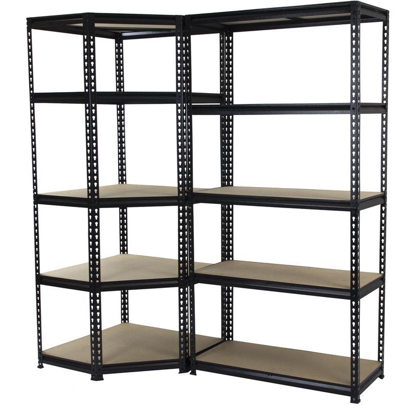 Qiq Fix 5 Shelf Corner Storage Unit Shelving Unit Corner Storage Unit Adjustable Shelving
