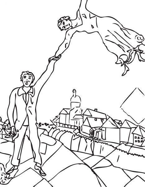 Marc Chagall | Patrones para colorear | Arte, Pintar y Pintor