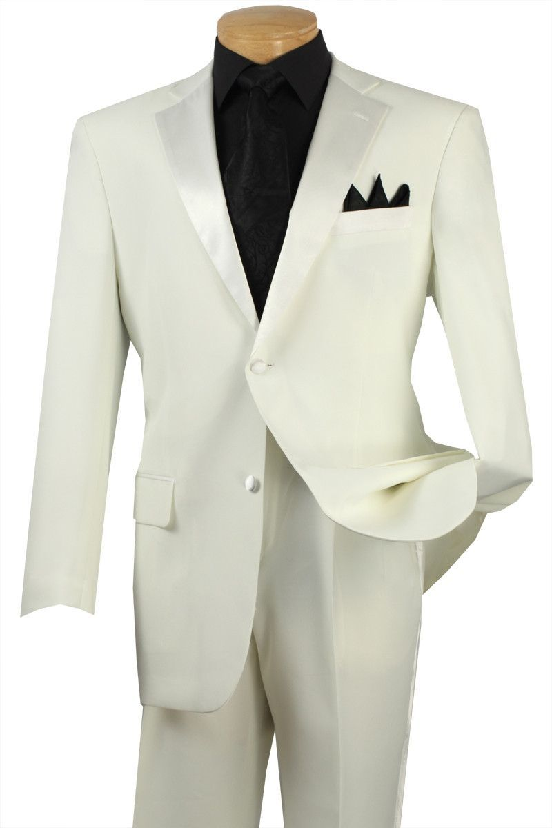 Royale collection regular fit piece tuxedo in ivory two buttons