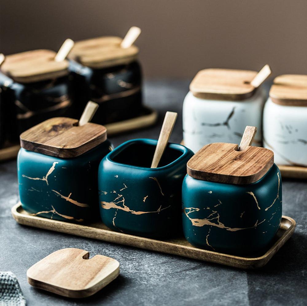 Spice Jars • Wooden Spice Rack • Spice Labels • Sp