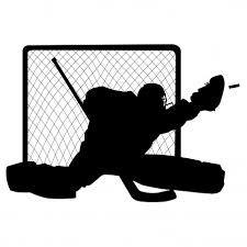 Vector Hockey Goalie Silhouette