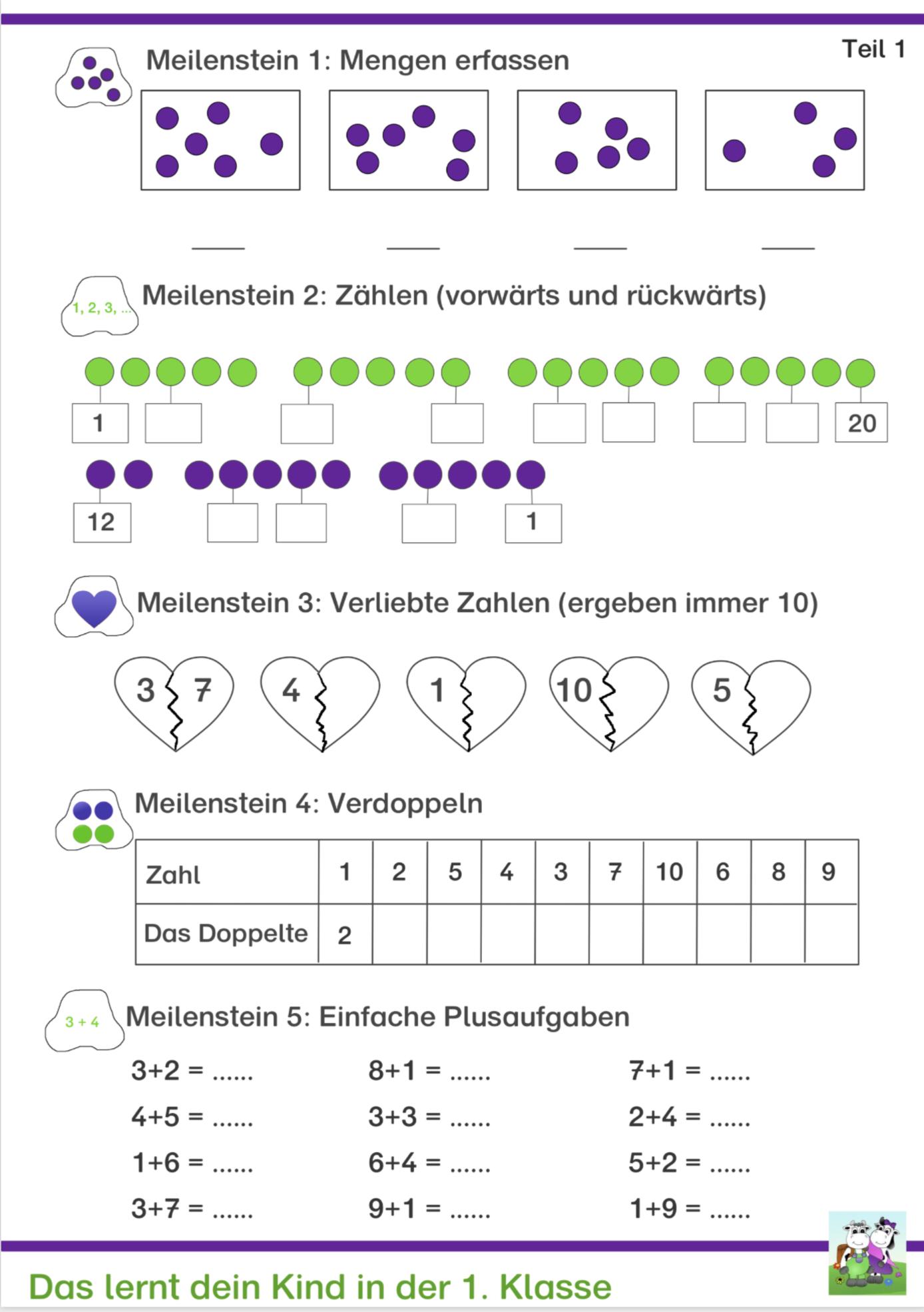 Kostenlose Arbeitsblätter für Mathe Klasse 20   Lernen tipps schule ...
