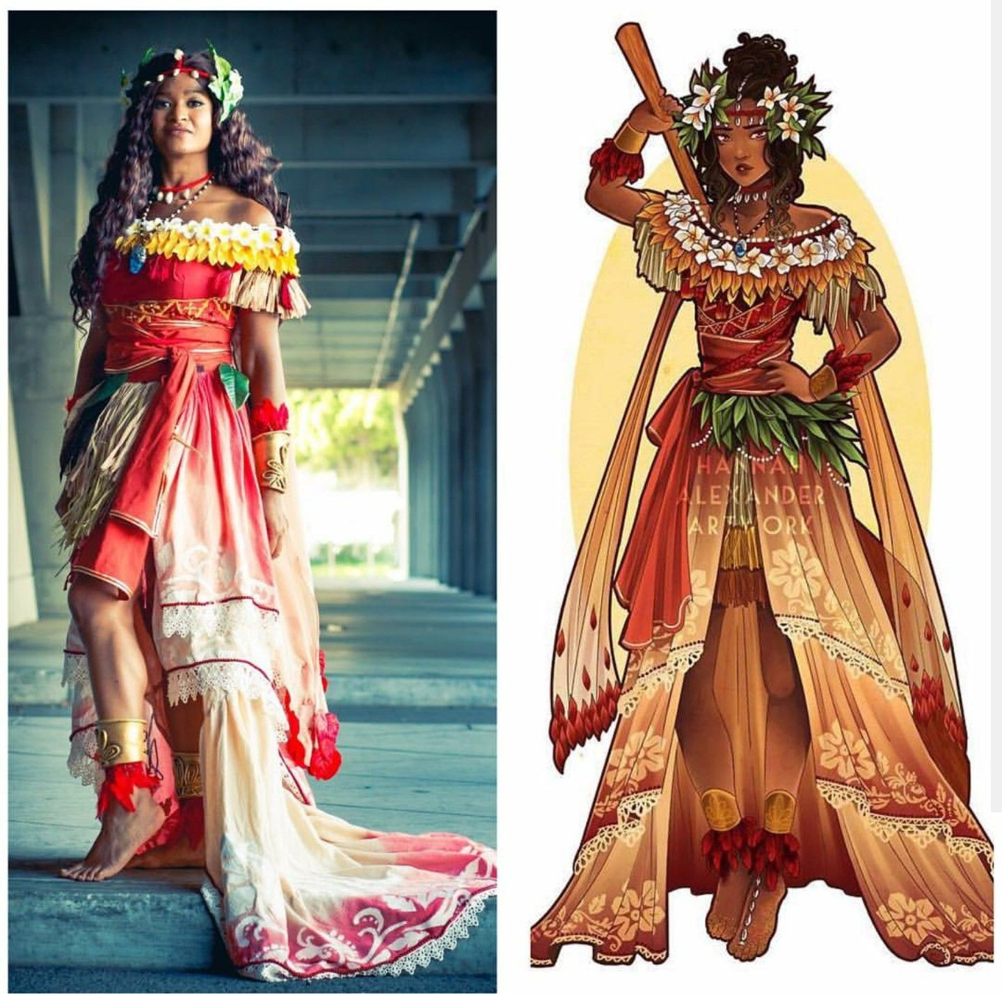 Art Nouveau Costume Moana Art Nouveau Cosplay By Dressesandcapes Based On By
