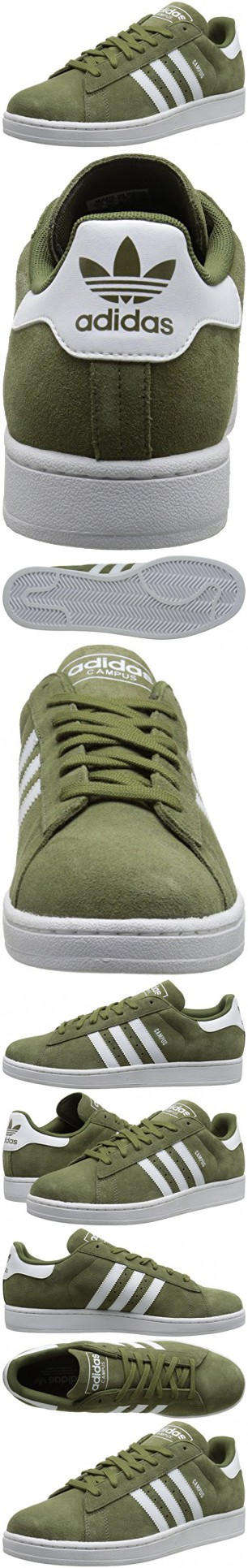 Adidas Originali Degli Uomini Di Campus 2 Basket Scarpa, Olio D'oliva