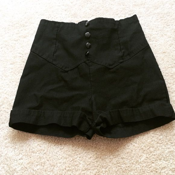 Black high waist shorts Black high waisted shorts. Stretchy with zipper in the back Body Central Shorts