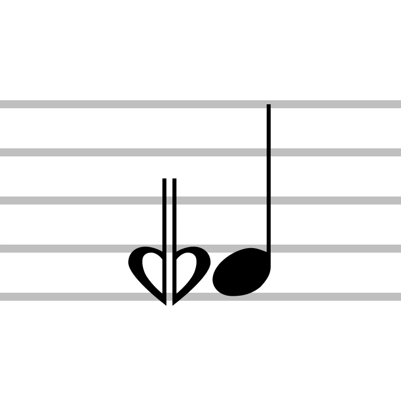 Flat And A Half Sesquiflat Lowers The Pitch Of A Note By Three Quarter Tones As With A Demiflat A Slashed Double Flat Symbol Is Symbols Tree Icon Geometric