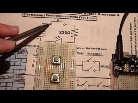Electronics schematic to breadboard 2 tactile pushbutton switch ...