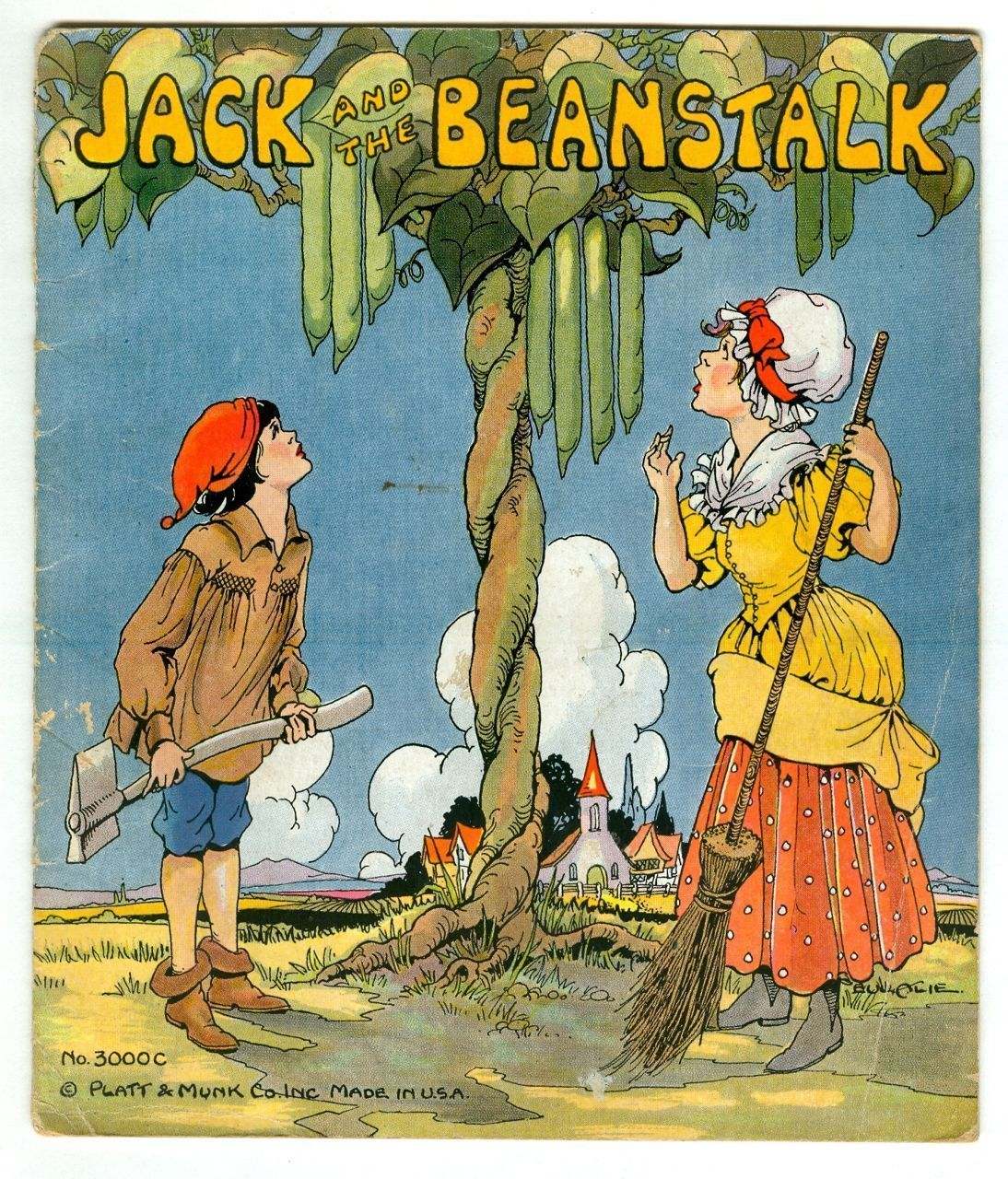 Traditional Jack Buys Beans From A Man Who Claims That They Are Magical Jack S Mother Is Mad That Jack And The Beanstalk Childrens Books Vintage Illustration