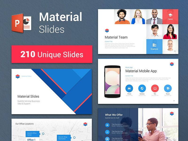 Material Design Powerpoint Template Powerpoint Templates Presentation Design Layout Material Design
