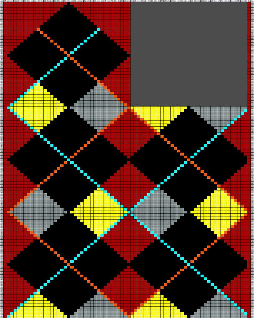 Mosaico Para Tricô Masculino | Mosaicos y Patrones