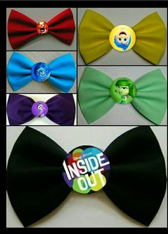 Emotions Hair Bows-Joy AngerFear Disgust by MouseofFashion on Etsy