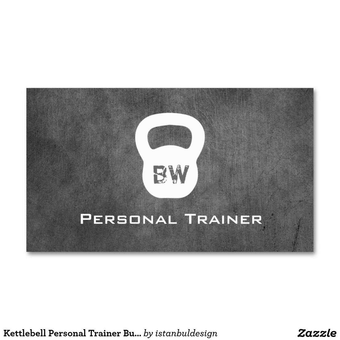 Kettlebell Personal Trainer Business Card | Personal trainer ...