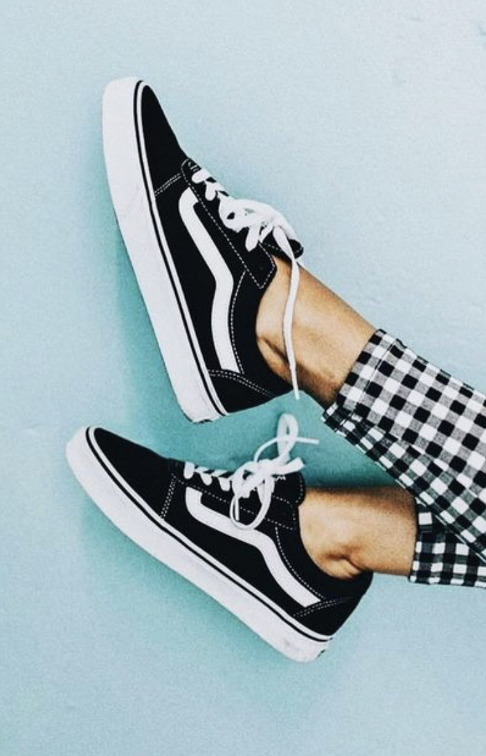 b17f0070a3 vans old skool sneakers + gingham pants