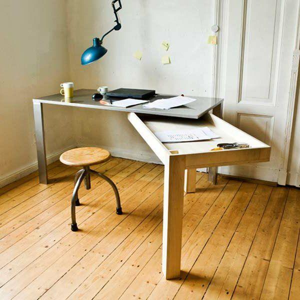 le bureau escamotable d cisions pour les petits espaces nouvel appart. Black Bedroom Furniture Sets. Home Design Ideas