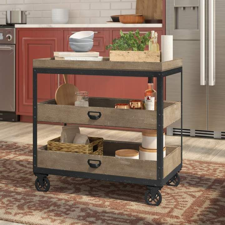 Laurel Foundry Modern Farmhouse Fort Oglethorpe Kitchen Cart ...