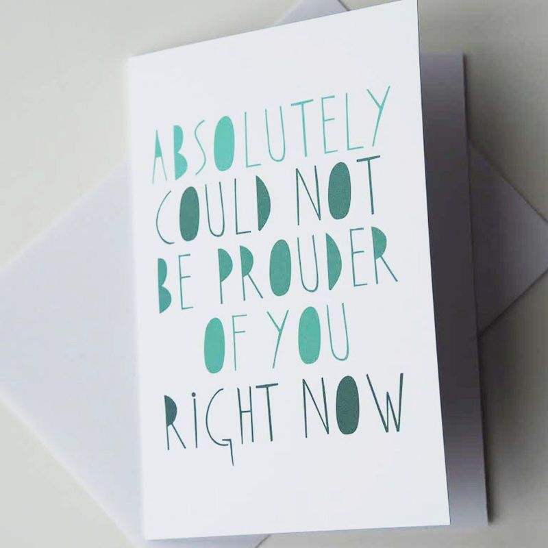 Graduation Card - Well Done Card - Iu0027m Proud of You Card - Exam - job test