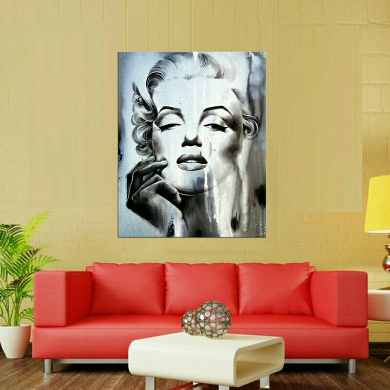 Miss Monroe Wall Art on Canvas **WORLDWIDE SHIPPING AVAILABLE** Item ...