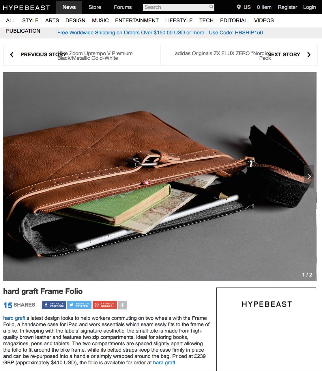 Hard Graft Frame Folio Hard Graft Leather Zip Around Wallet