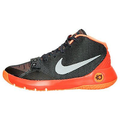 Nike KD Trey 5 III Gs Big Kids 768870-008 Grey Orange Durant Shoes Youth