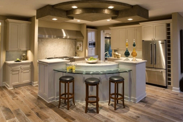 Model Kitchen Set Klasik Dengan Island Desain Pinterest
