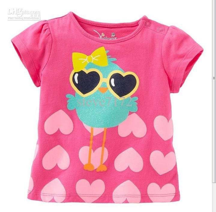 deb0390db44ea Girls T-shirts Baby Tees Shirts Children Clothing Tank Tops Sleeveless Kids T  Shirts Blouses Jumpers Boys Tshirts Outfits M1640 Online with $146.08/Piece  on ...