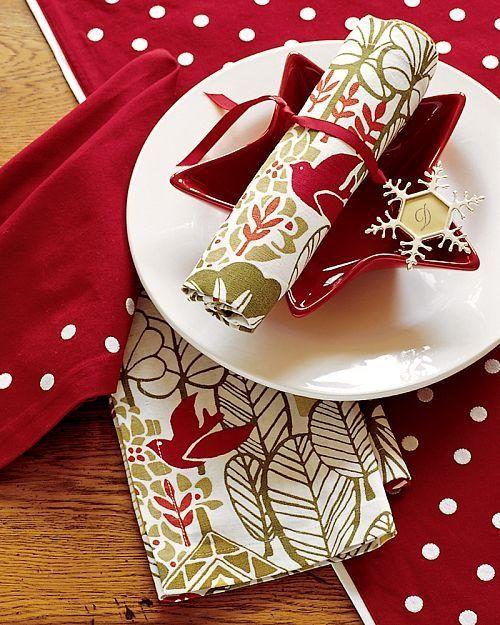 Una mesa muy navideña Christmas tablescapes - jardines navideos
