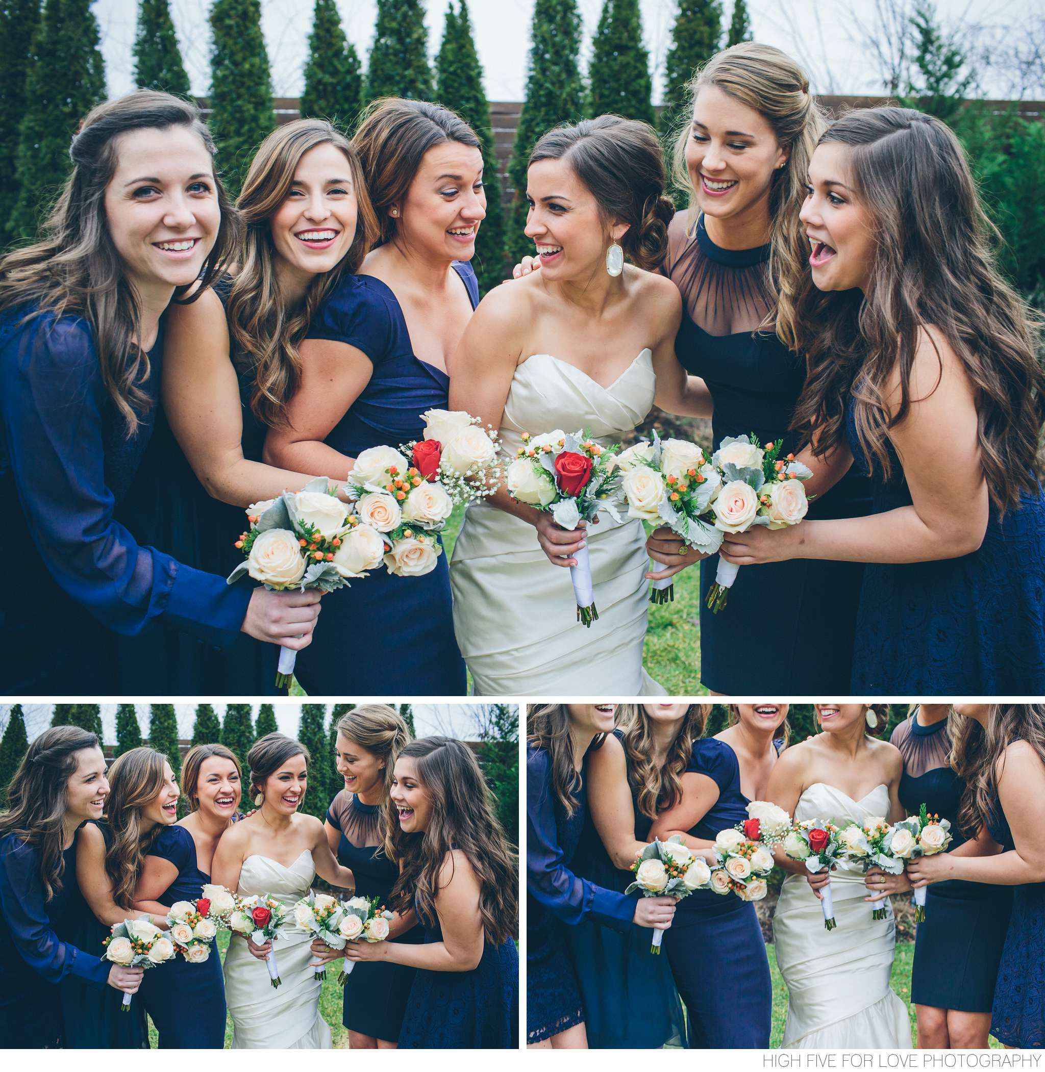 Navy is a color that works for any season but it's especially stunning in this Connecticut winter wedding.