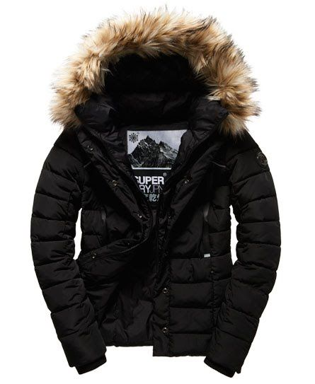 Superdry Giubbotto Glacier Biker Nero Jackets Winter Jackets Biker Jacket