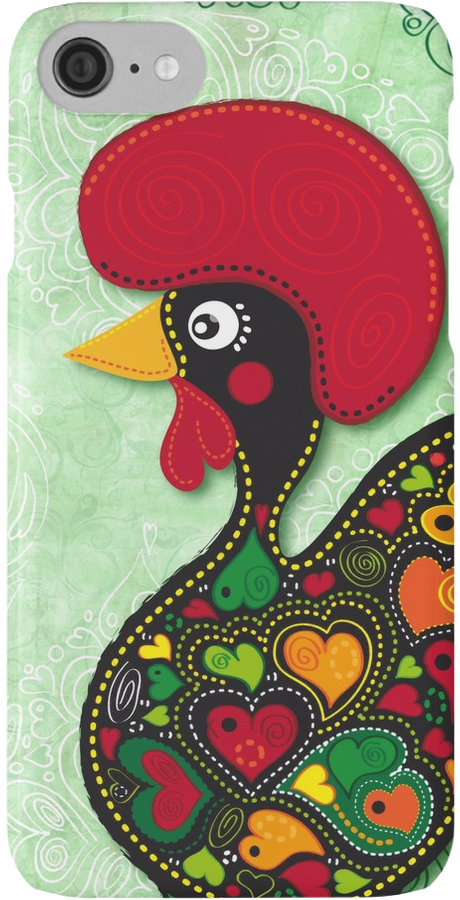 The Rooster Of Barcelos Iphone Case By Silvia Neto Lembranas De