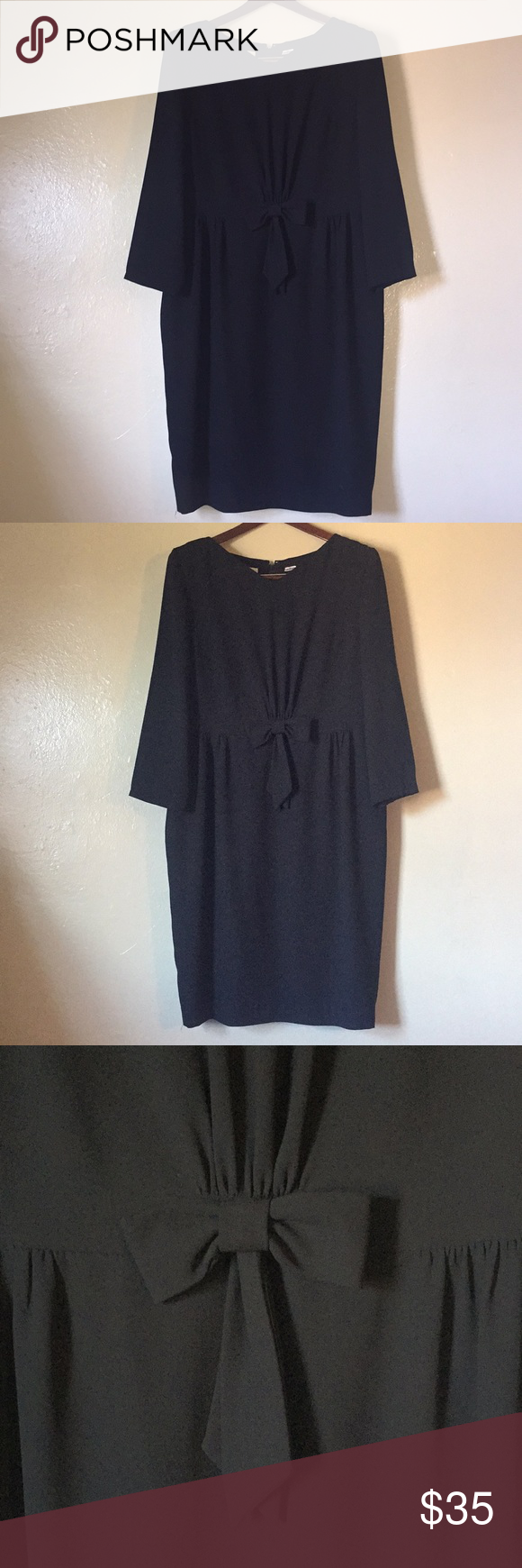 plus size v neck long sleeve black dress my posh picks