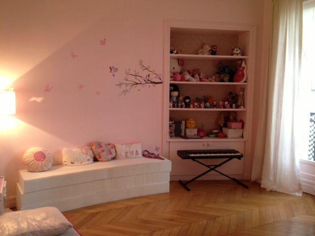 chambre fille, chambre rose, chambre petite fille, chambre Nanelle