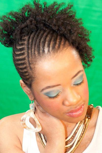Cornrow And Flexi Rod Set On Natural Hair Au Naturale Hair