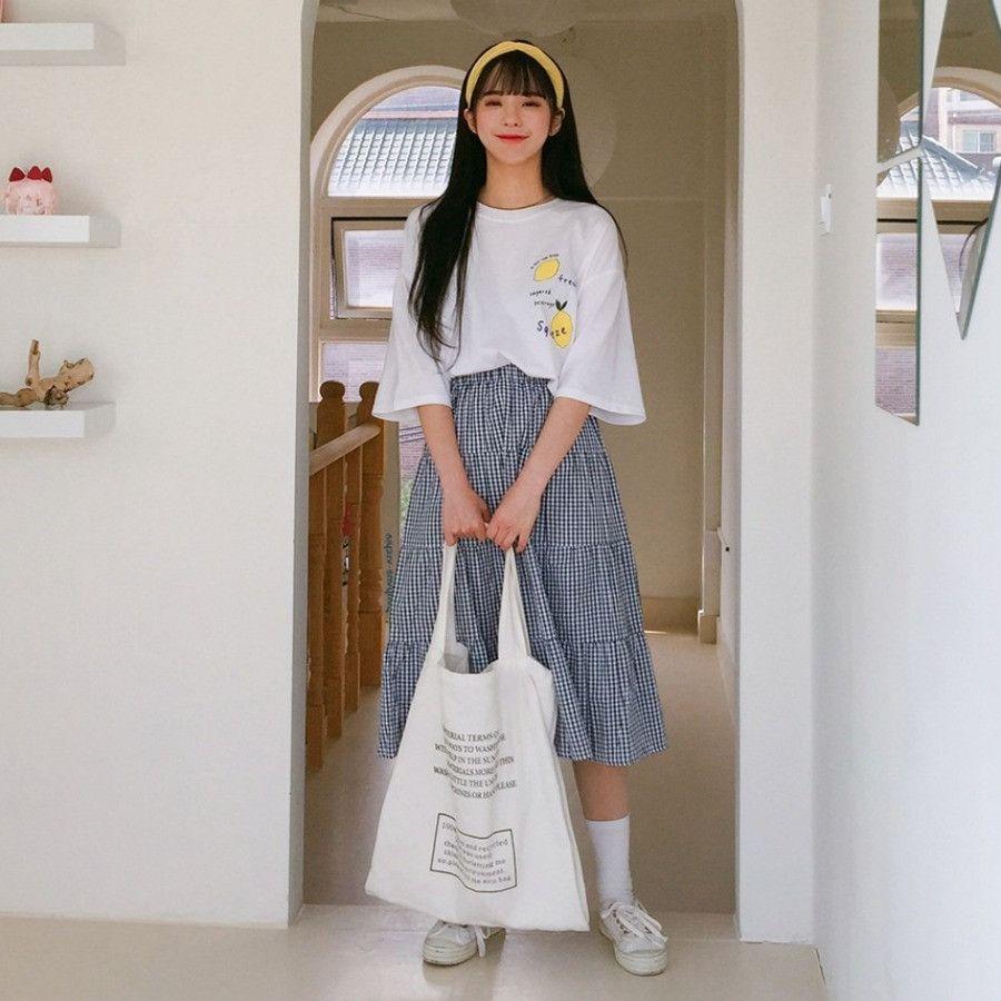 UNTITLE8Lemon Print Oversized T-Shirt  mixxmix  Oversized outfit