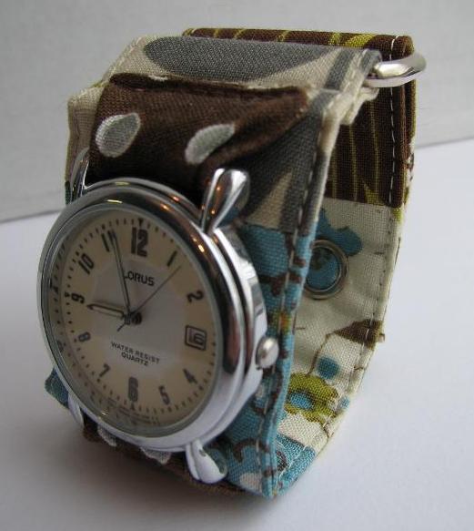 Free Sewing Pattern Funky Fabric Watch Band Pattern Diy Watch