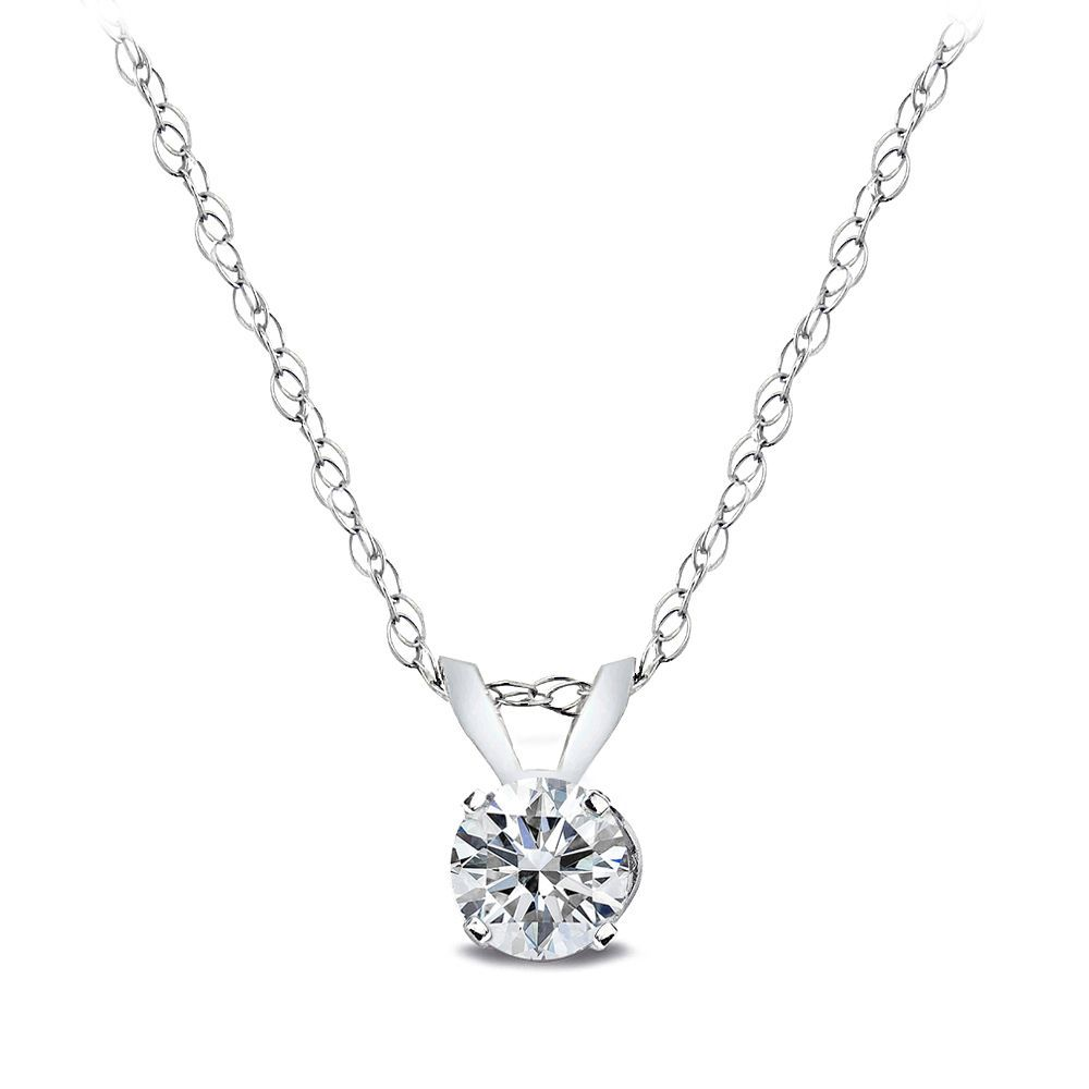 Simple yet elegant this necklace boasts a single carat diamond