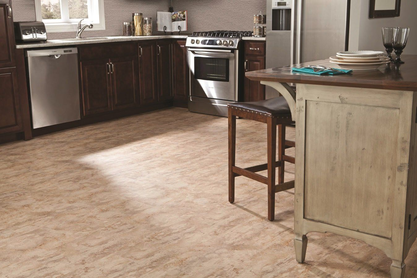 Shop STAINMASTER 12in x 24in Alpine Trail Floating Vinyl