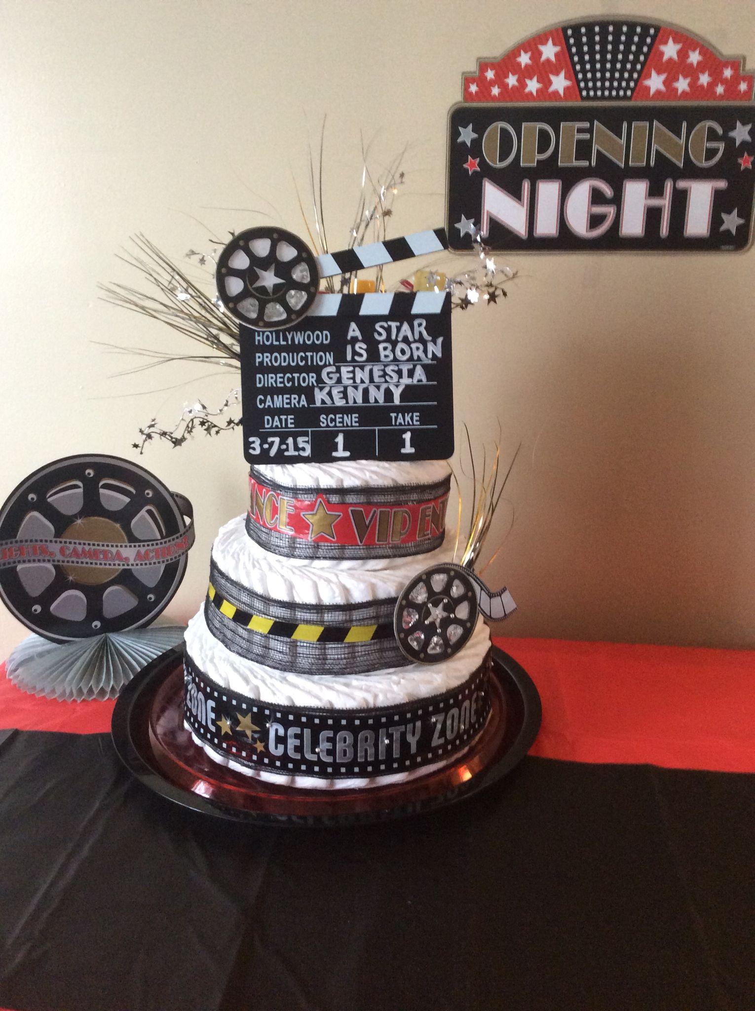 127 Diaper Custom Decorated Diaper Cake For A Movie Star