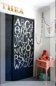 Diy Feature Wall Baby Nursery Project Nursery Painted Closet Kids Bedroom Alphabet Wall