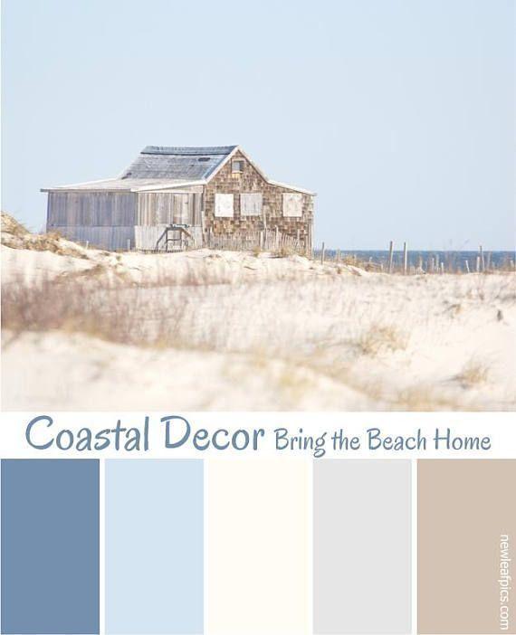 Beach photography, Cape Cod style coastal wall art, sand dunes photo, color palette S