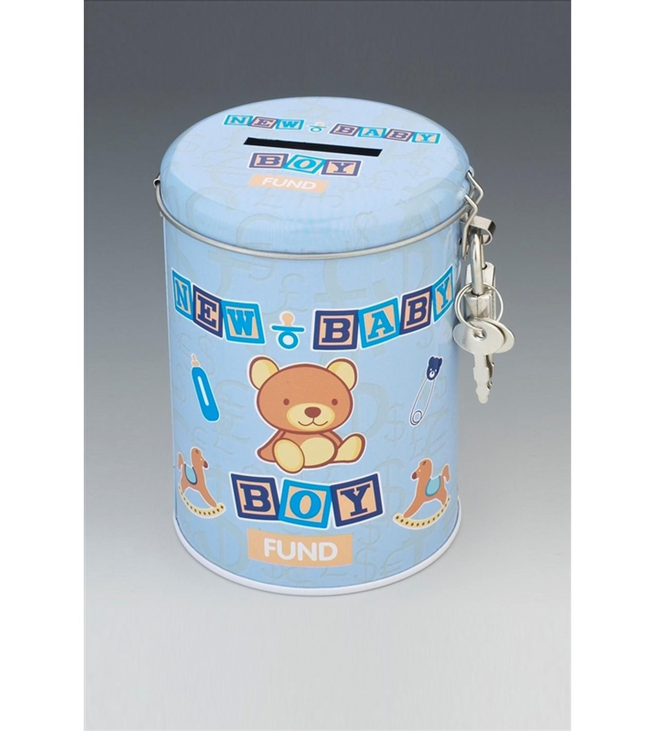 New Baby Boy Fund Tin - http://tidd.ly/78d183bd