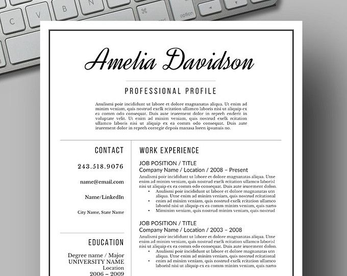 Resume templates for word cv template by resumefoundry on etsy resume templates for word cv template by resumefoundry on etsy yelopaper Gallery