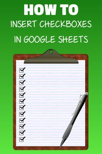 How to Insert Checkbox in Google Sheets Google Pinterest