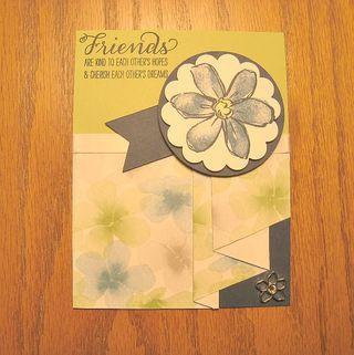 Cynthia Milbrath pleated card 1