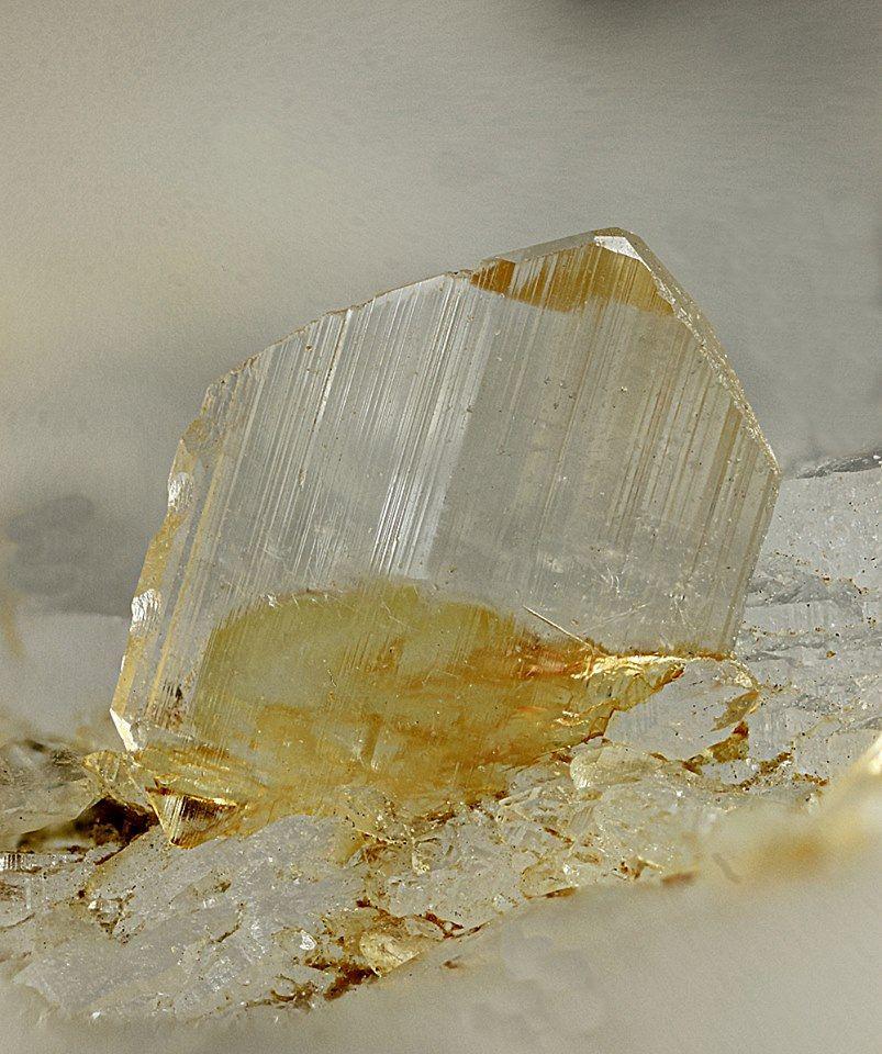 Euclase, BeAlSiO4(OH), Erfurter Steig, Rauris, Pinzgau, Salzburg, Austria. Size: 4 mm